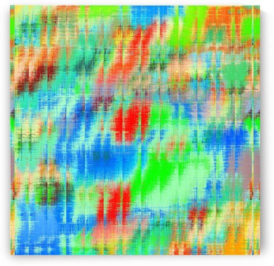 psychedelic geometric painting texture abstract background in blue green red by TimmyLA