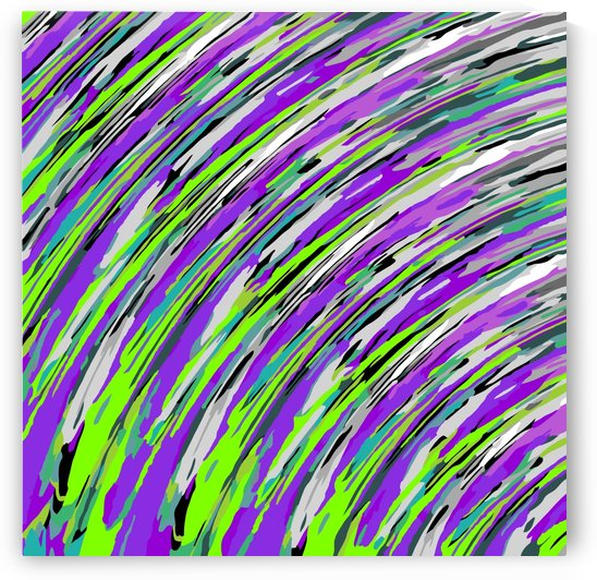 curly line pattern abstract background in purple and green by TimmyLA