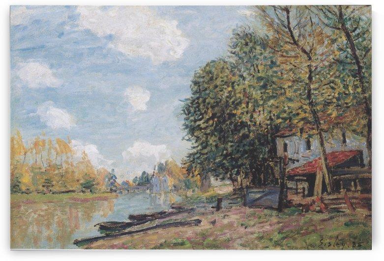Moret Die Ufer des Loing by Alfred Sisley