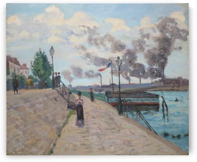 The Seine at Charenton by Armand Guillaumin