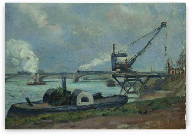 La Seine a Paris by Armand Guillaumin