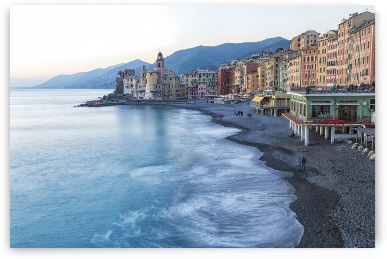 The beach of Camogli by Pietro Ebner