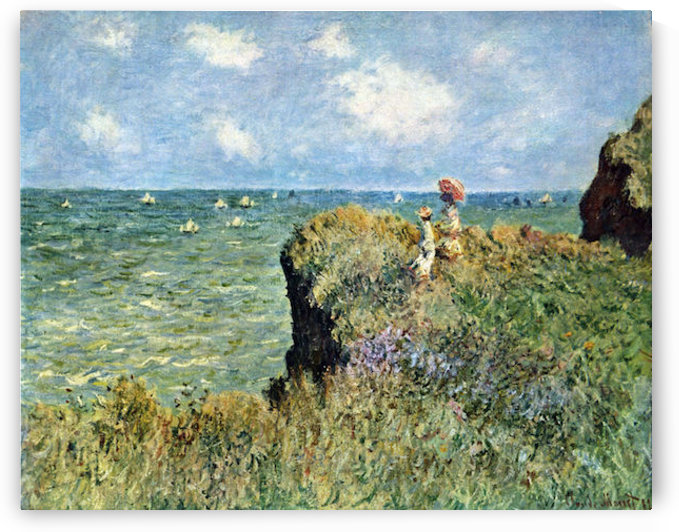 Walk on the cliffs by Monet by Monet