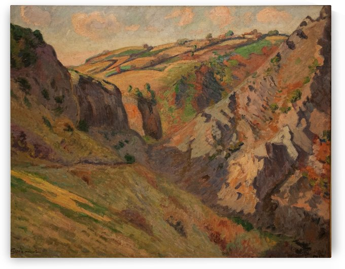 Les grottes by Armand Guillaumin