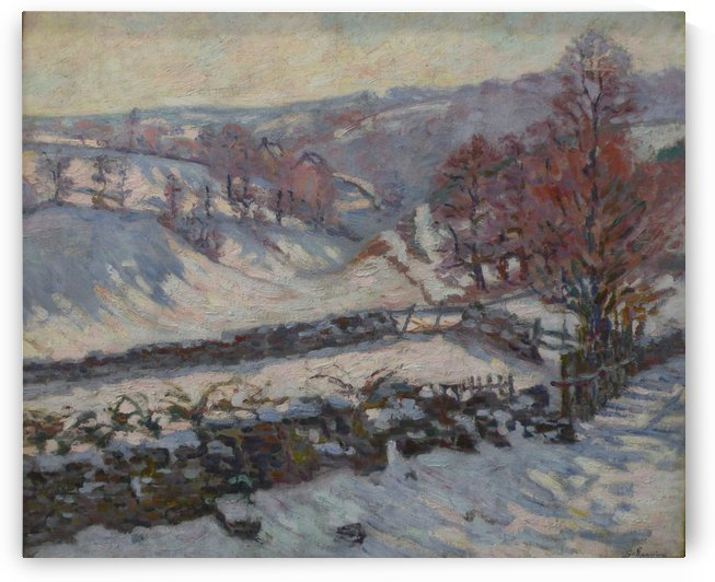 Paysage de neige a Crozant by Armand Guillaumin