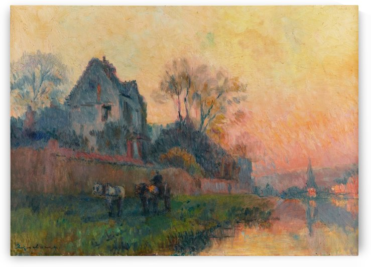 Bords de Seine a Chatou by Albert Lebourg
