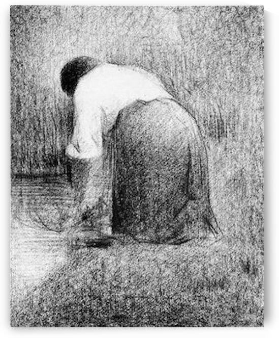 Washerwoman by Seurat by Seurat