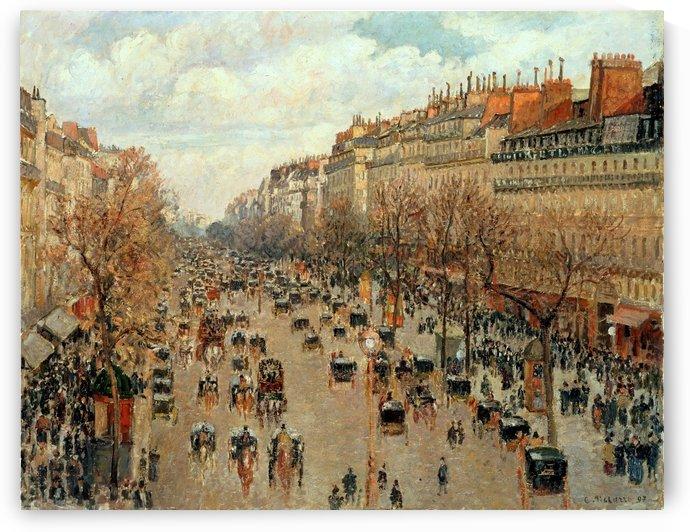 Boulevard Montmartre Paris by Camille Pissarro
