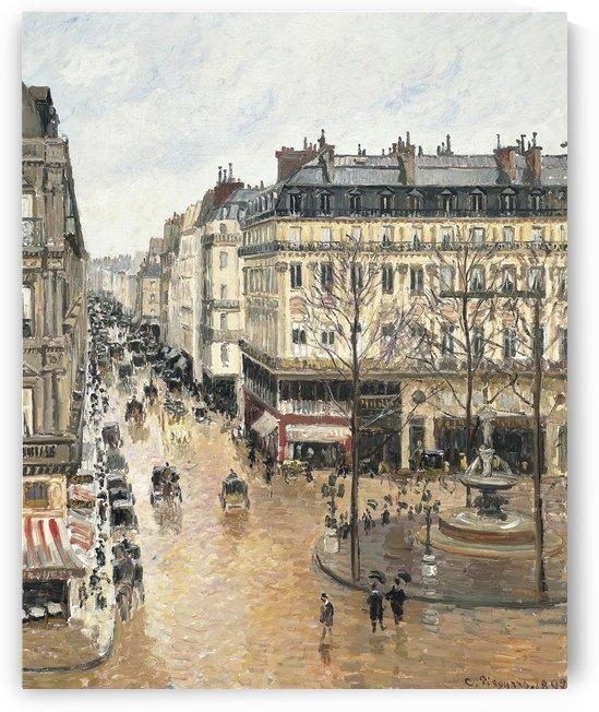 Rue Saint-Honore dans laprs-midi Effet de pluie 1897 by Camille Pissarro