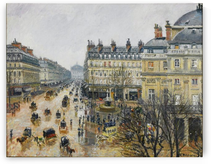 Avenue de lOpera Paris effet de pluie 1898 by Camille Pissarro