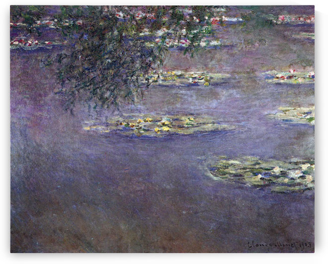 Water lilies, water landscape #1 by Monet by Monet