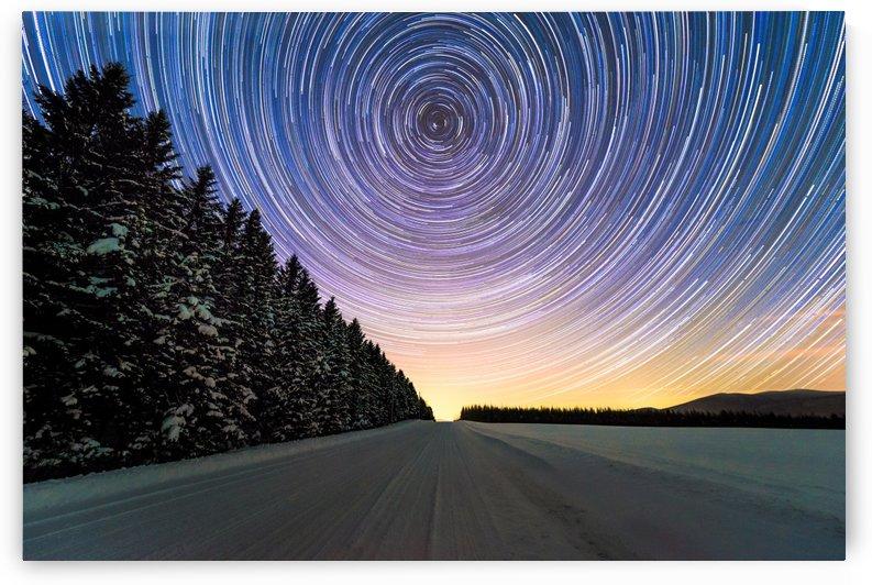 Star Trails above Horizon by Lrenz