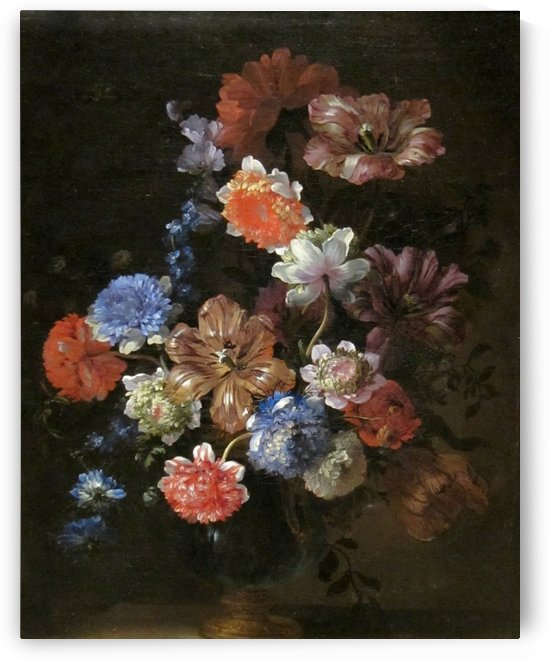 Flower still life by Adolphe Monticelli