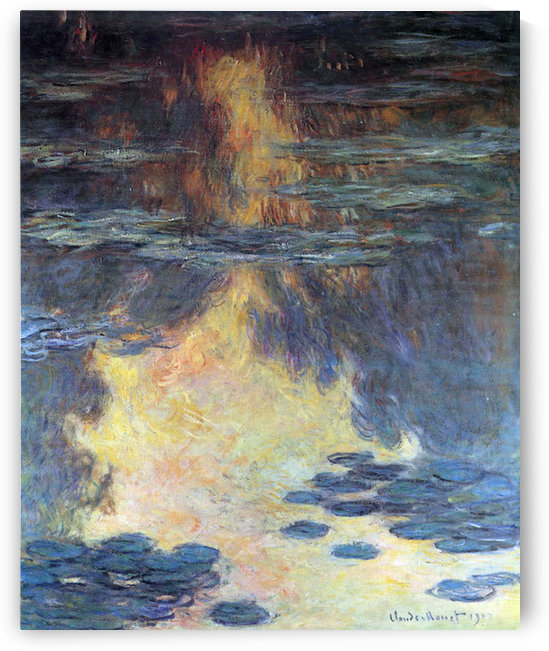 Water lilies, water landscape #2 by Monet by Monet
