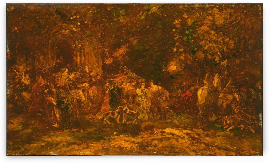 Woodland Worship by Adolphe Monticelli