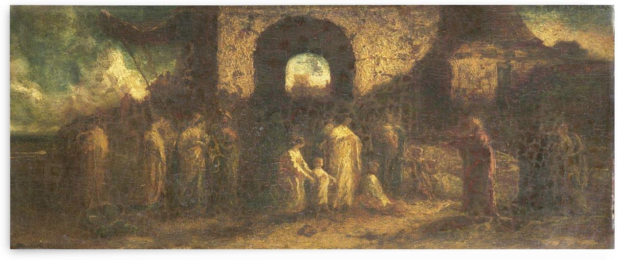 Christus zegent de kinderen by Adolphe Monticelli