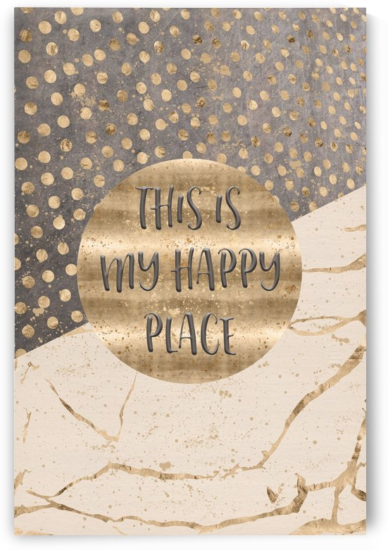 GRAPHIC ART This is my happy place by Melanie Viola