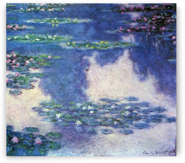 Water lilies, water landscape #4 by Monet by Monet