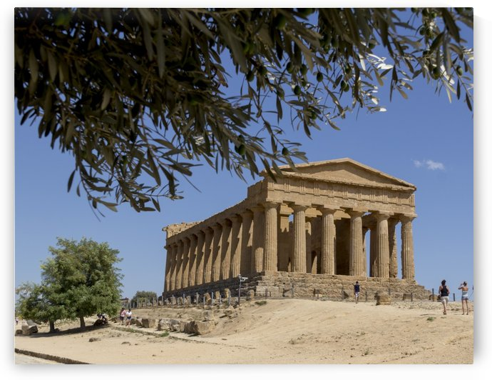 Greek temples in Sicily by Pietro Ebner