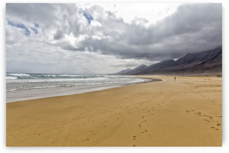 The cofete beach in Fuerteventura by Pietro Ebner