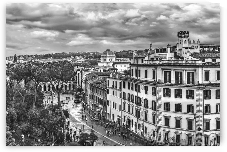Rome Aerial Cityscape View From Campidoglio by Daniel Ferreia Leites Ciccarino