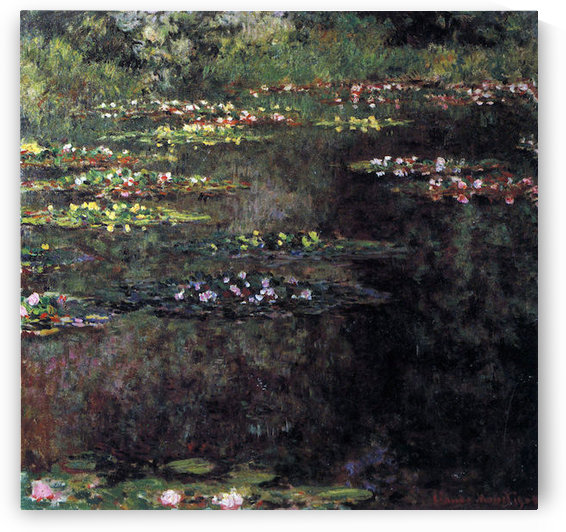 Water lilies, water landscape #5 by Monet by Monet