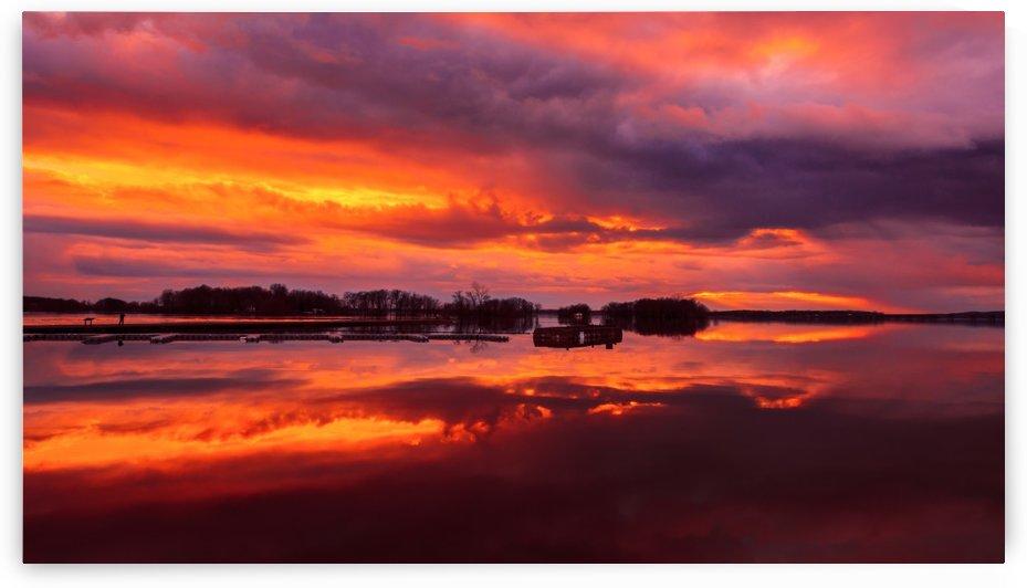 Sunset at Sainte Anne de Bellevue by Lrenz