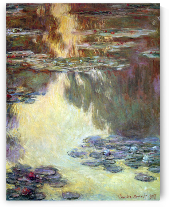 Water lilies, water landscape #6 by Monet by Monet