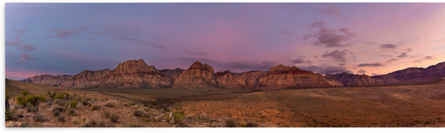 Pano of Red Rock Mt. by Noah E Geist
