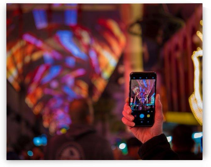 Fremont St. Las Vegas by Noah E Geist