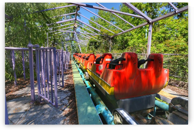 Abandoned Six Flags Coaster by RNK ALL DAY