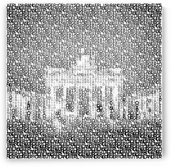 Typographic Art | BERLIN Brandenburg Gate  by Melanie Viola