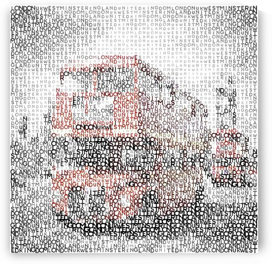 Typographic Art | LONDON Westminster Bridge Buses  by Melanie Viola