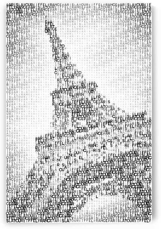 Typographic Art | PARIS Eiffel Tower  by Melanie Viola