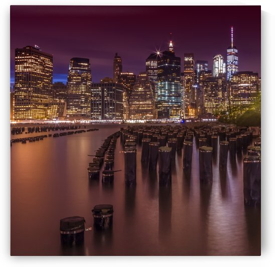 Manhattan Skyline at Sunset  by Melanie Viola