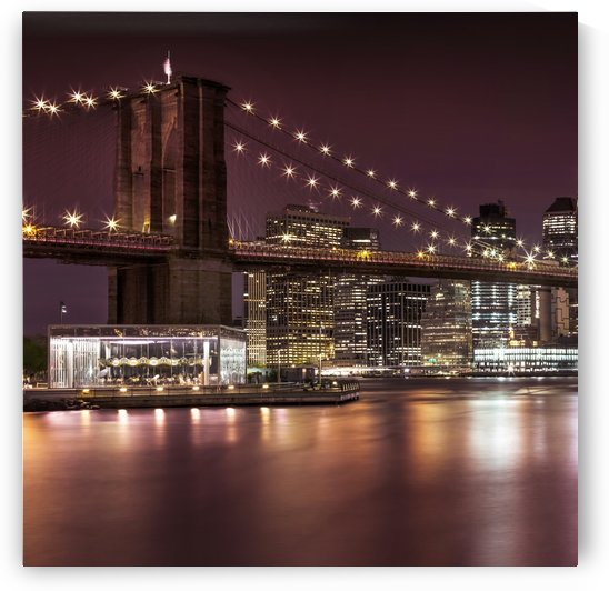 BROOKLYN BRIDGE Nightly Impressions  by Melanie Viola