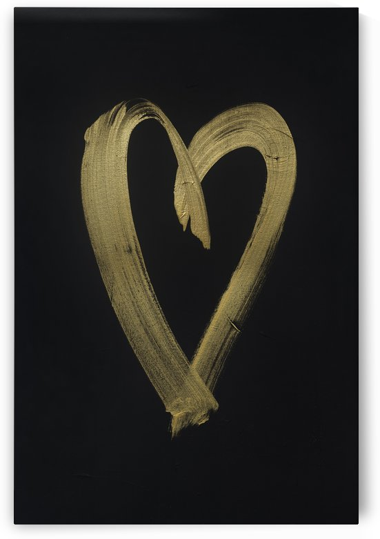 Gold heart3.5mb by Matt Hanover Art