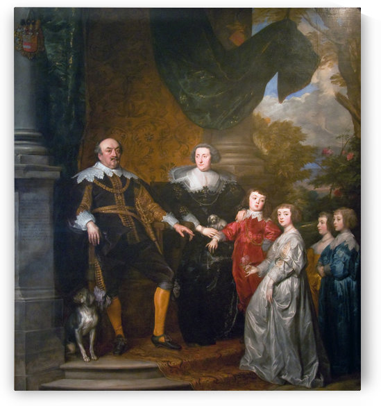 John, Count of Nassau-Siegen with his family by Anthony van Dyck