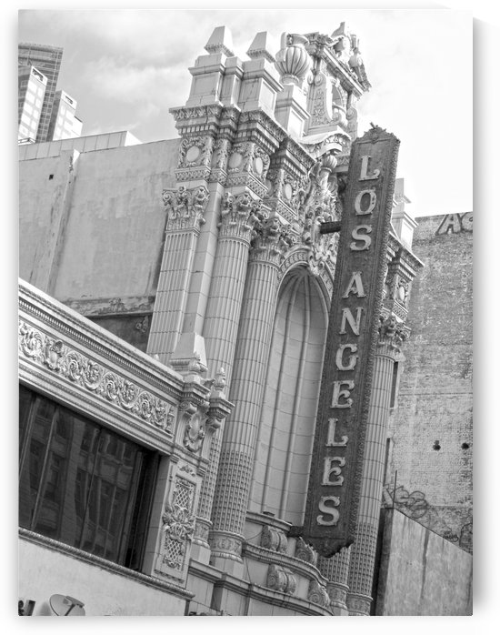 Vintage Los Angeles Theatre Sign - B&W by Hold Still Photography