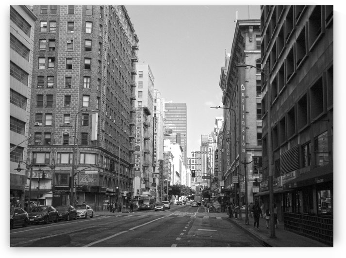 7th & Broadway DTLA - B&W by Hold Still Photography
