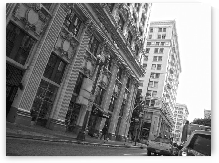 6th & Spring DTLA - B&W by Hold Still Photography