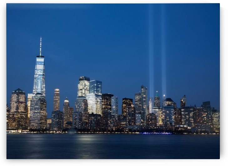 911 Memorial Lights NYC skyline by Kaye