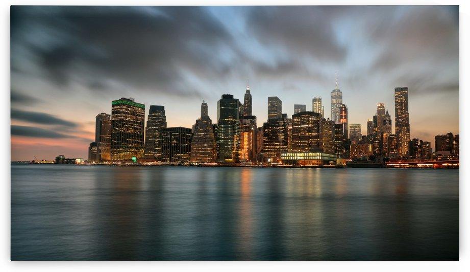 New York City Skyline at Dusk by Kaye