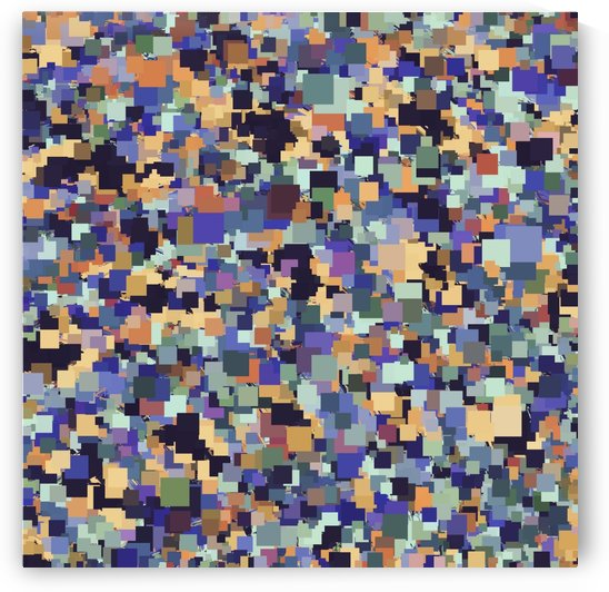 vintage geometric square pixel pattern abstract in purple blue brown by TimmyLA