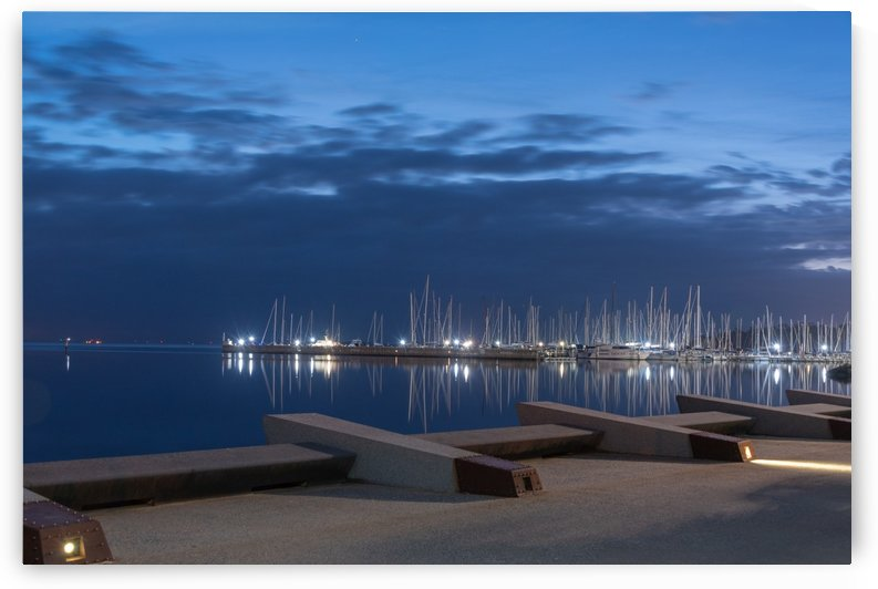 Blue Pre Dawn Marina by Grant Cookson