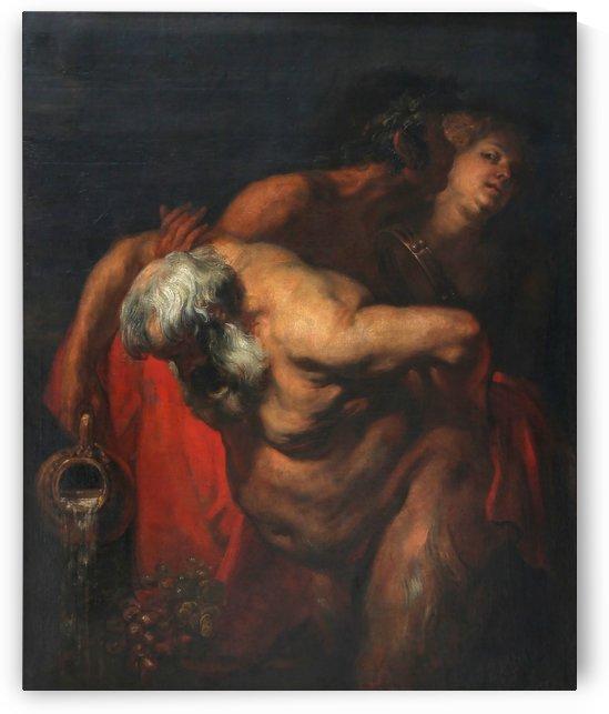 Silene ivre soutenu par un faune et une bacchante by Anthony van Dyck