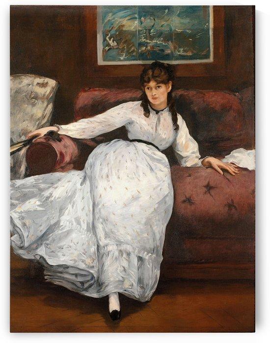 Le repos by Berthe Morisot
