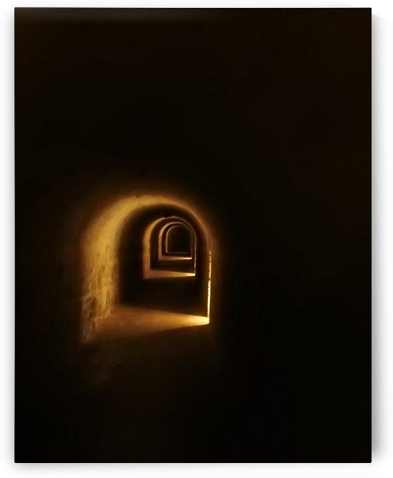 Dungeon Tunnel at Castillo de San Cristobal - Old San Juan Puerto Rico by Brian W Weber