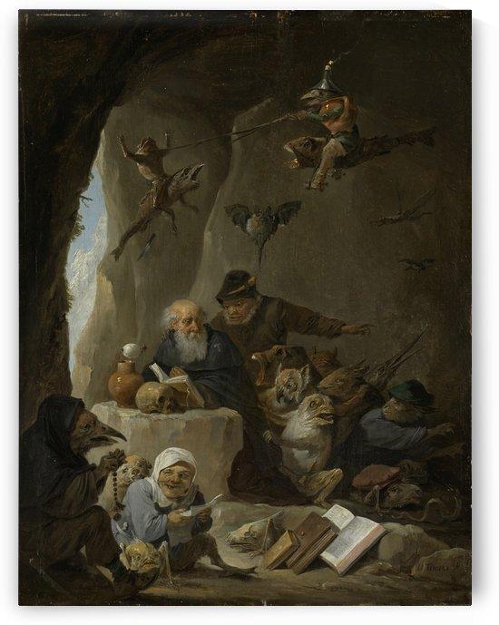 De verzoeking van de heilige Antonius de Heremiet by David Teniers the Younger