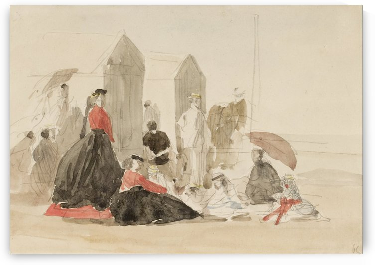 Crinolines and Cabins by Eugene Boudin